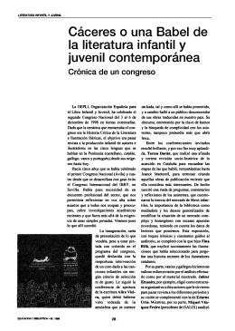 Cáceres O una Babel de la literatura infantil y juvenil