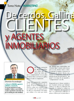 Toma Nota - MARKETING - Revista Inmobiliarios