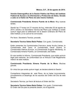 Sesión Pleno 20-08-14
