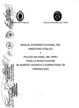 MANUAL INTERINSTITUCIONAL DEL MINISTERIO PÚBLICO