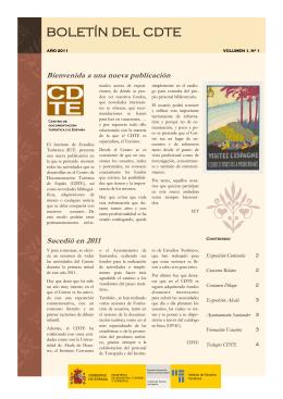 Boletín de novedades del CDTE. Nº 1. Año 2011