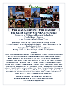 The Great Family Search Conference Sign