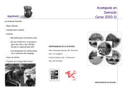 Acampada en Somiedo Curso 2010-11