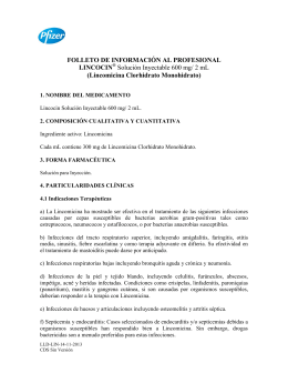 FOLLETO DE INFORMACIÓN AL PROFESIONAL LINCOCIN