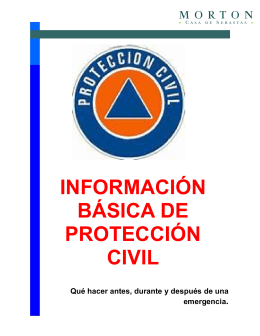 Folleto Protección Civil