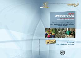 Informe del simposio público 2014