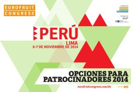 opciones para patrocinadores 2014 - Fruitnet Peru
