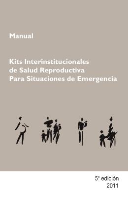 Kits Interinstitucionales de Salud Reproductiva Para