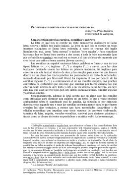 Propuesta de sistema de citas bibliográficas
