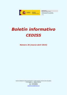 Boletín informativo CEDISS - Ministerio de Empleo y Seguridad Social