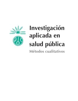 Investigación aplicada en salud pública