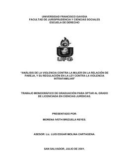 PROYECTO DE INVESTIGACION - Universidad Francisco Gavidia