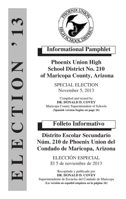 Agua Fria Election 11/06 - Phoenix Union High School District