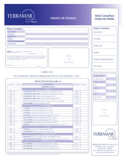 ORDEN DE PEDIDO - terramar brands