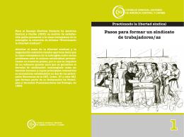 Pasos para formar un Sindicato de Trabajadores/as  pdf - 3.5 MB