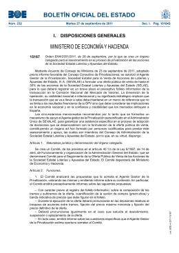 Orden EHA/2551/2011, de 26 de septiembre, por la que se crea un