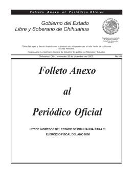LEY DE INGRESOS-2008.pmd - Gobierno del Estado de Chihuahua