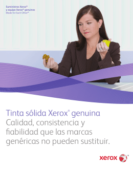 Xerox Genuine Supplies and Equipment: Made for Each Other