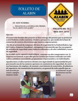 FOLLETO DE ALABIN - ALABIN