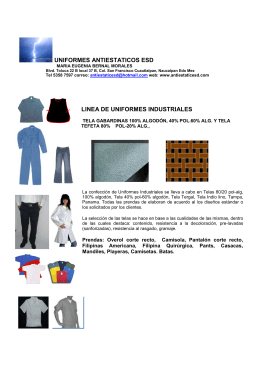 FOLLETO LINEA UNIFORMES INDUSTRIALES ESD