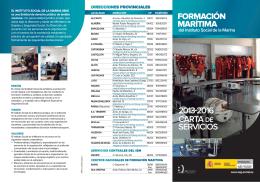 FORMACIÓN MARÍTIMA CARTA DE SERVICIOS