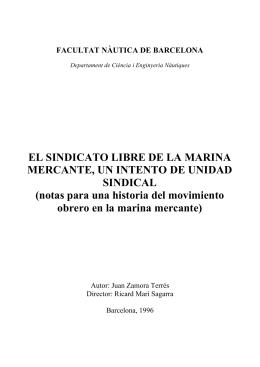 EL SINDICATO LIBRE DE LA MARINA MERCANTE, UN INTENTO