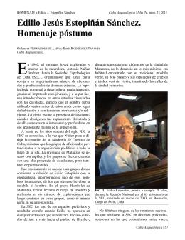 Edilio Jesús Estopiñán Sánchez. Homenaje póstumo