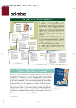 publicaciones - Sociedad Española de Oncología Médica