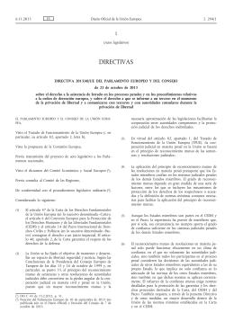 Directiva 2013/48/UE del Parlamento Europeo y del