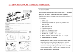 Kit educativo solar (contiene 36 modelos)