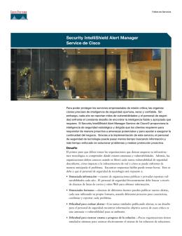 Security IntelliShield Alert Manager Service de Cisco