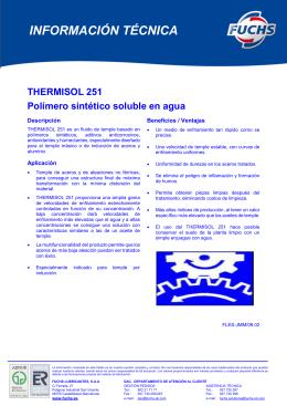 thermisol 251 - Fuchs Lubricantes