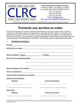Poniendo sus asuntos en orden - Disability Rights Legal Center