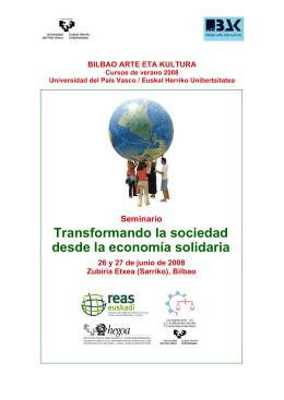 Transformando la sociedad desde la economía solidaria
