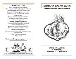 Folleto-Semana Santa 2014-Niñas-os