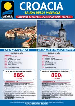885€ 890€ - Panavisión Tours