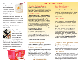 Sharps disposal flyer