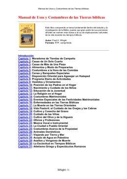 Fred Wright - Manual de Usos y Costumbres de las Tierras bíblicas