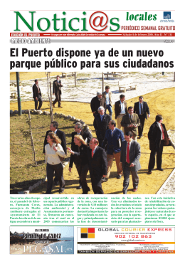 El Puerto dispone ya de un nuevo parque público para