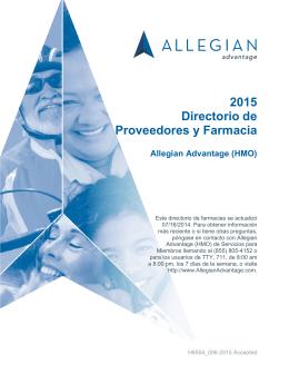 2015 Directorio de Proveedores y Farmacia