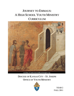 journey to emmaus: a high school youth ministry curriculum