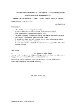 2S-2014 ExamenRecuperacion SOCIEDAD Y CULTURA