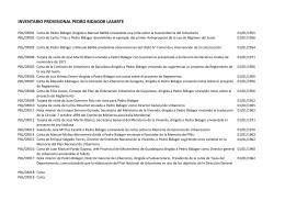 Inventario Pedro Bidagor Lasarte