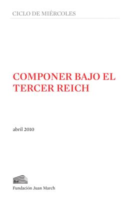 COMPONER BAJO EL TERCER REICH