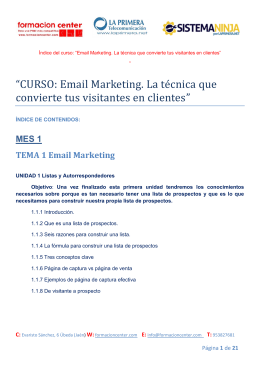 Indice curso email marketing