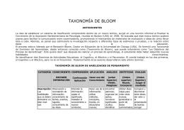 Taxonomía de Blooom