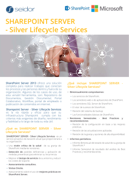 SHAREPOINT SERVER - Silver Lifecycle Services