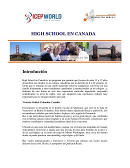 Introducción HIGH SCHOOL EN CANADA