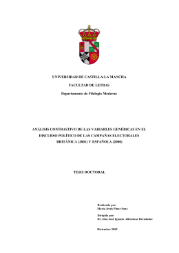UNIVERSIDAD DE CASTILLA-LA MANCHA FACULTAD