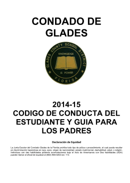 14-15 Code of Conduct & Parent Guide_Spanish